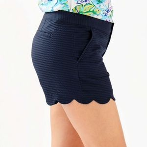"""Lilly Pulitzer Shorts - Lilly Pulitzer 5"""" BUTTERCUP SCALLOP HEM SHORT"""